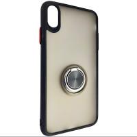 Чохол Totu Copy Ring Case iPhone XS MAX Black+Red