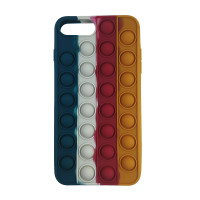 Чохол Pop it Silicon case iPhone 6/7/8 Plus  Blue+White+Red