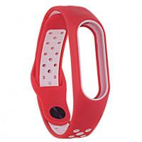 Ремінець для фітнес браслету Mi Band 2 (Nike TPU) Red/White