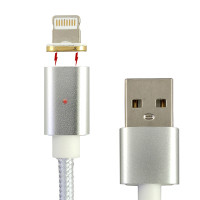 USB Magnetic Cable iPhone, Silver