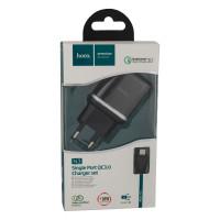 Мережевий Зарядний Пристрій Hoco N3 Micro QC3.0 Black
