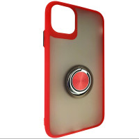 Чохол Totu Copy Ring Case iPhone 11 Red+Black