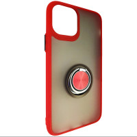 Чохол Totu Copy Ring Case iPhone 11 Pro Red+Black