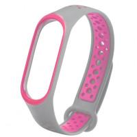 Ремінець для фітнес браслету Mi Band 5 Sport Band Nike Gray/Pink