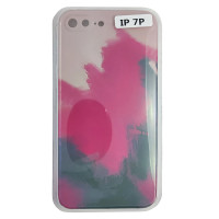 Чохол Silicone Water Print iPhone 7/8 Plus Mix Color Red