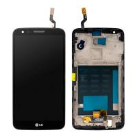 Дисплейний модуль LG D802 Optimus G2, з рамою, Black