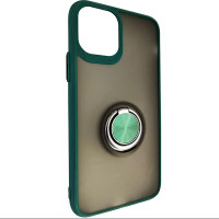 Чохол Totu Copy Ring Case iPhone 11 Pro Green+Black