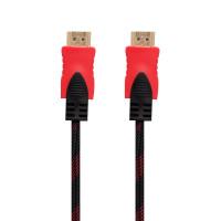 Кабель HDMI- HDMI 1.4V 3m (Тканинні провід) Колір Чорно-Червоний