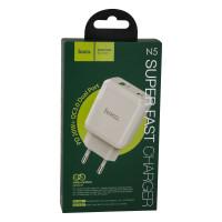 Мережевий Зарядний Пристрій Hoco N5 PD20W+QC3.0 White