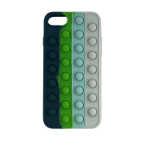 Чохол Pop it Silicon case iPhone 6/7/8  Blue+Green+White