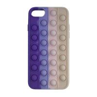 Чохол Pop it Silicon case iPhone 6/7/8  Violet+Pink+Cream