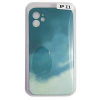 Чехол Silicone Water Print iPhone 11 Mix Color Green