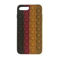 Чохол Pop it Silicon case iPhone 6/7/8 Plus  Black+Red+Brown