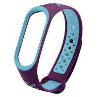 Ремінець для фітнес браслету Mi Band 5 Sport Band Nike Violet/Blue