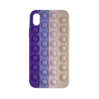 Чохол Pop it Silicon case iPhone XR Violet+Pink+Cream