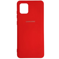 Чохол Silicone Case for Samsung Note 10 Lite Red (14)