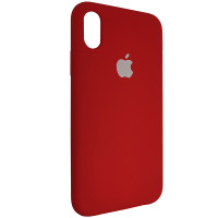Чехол Copy Silicone Case iPhone X/XS China Red (33)