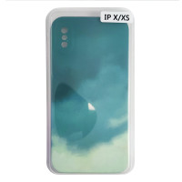 Чохол Silicone Water Print iPhone X/XS Mix Color Green