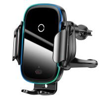 Холдер Baseus Light Electric Holder Wireless Charger, (15W), Black