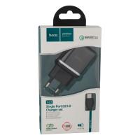 Мережевий Зарядний Пристрій Hoco N3 Type-C QC3.0 Black
