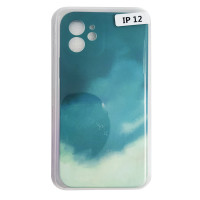 Чохол Silicone Water Print iPhone 12 Mix Color Green