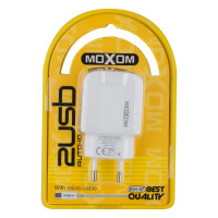 Мережевий Зарядний Пристрій Moxom KH-47 Micro 2USB White