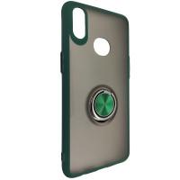 Чохол Totu Copy Ring Case Samsung A10S Green+Black