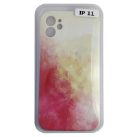 Чехол Silicone Water Print iPhone 11 Mix Color Yellow