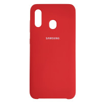 Чохол Silicone Case for Samsung A30 Red (14)