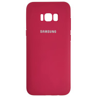 Чохол Silicone Case for Samsung S8 Plus Camellia Red (25)