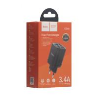Мережевий Зарядний Пристрій Hoco C84A 4USB Black